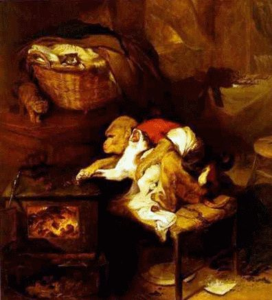 The Cat's Paw by Edwin Landseer is a fascinating painting.